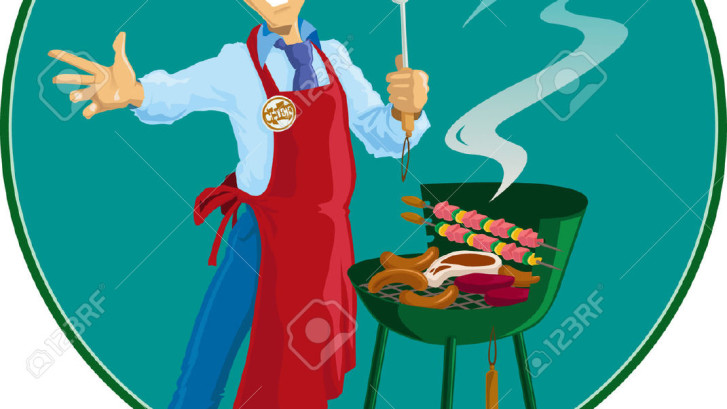 7562186-Cook-with-his-barbeque-Stock-Vector-barbecue-chef